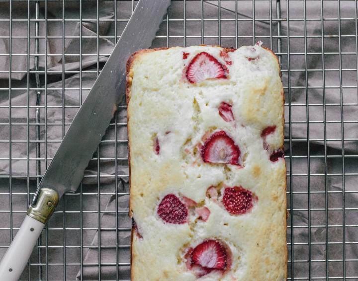 Strawberry + Rose Quickbread | A Recipe From LocalMilk